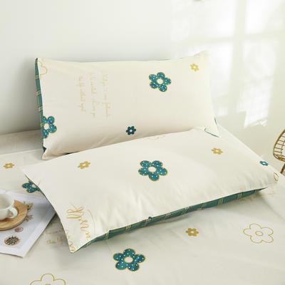 2020新款13372新疆长绒棉单品枕套 48*74cm/只  口袋枕套 潘朵拉