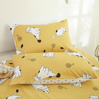 2020新款13372新疆长绒棉单品枕套 48*74cm/只  口袋枕套 小可爱