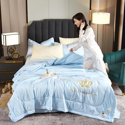 甜蜜皇冠夏被 150X200cm 蓝