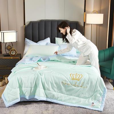 甜蜜皇冠夏被 150X200cm 绿蓝