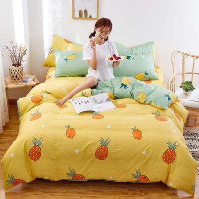2020新款全棉12868单被套长期花型 110x150cm 菠萝黄