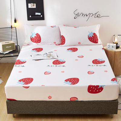 2020新款全棉12868单床笠长期花型 150*200*26cm 草莓