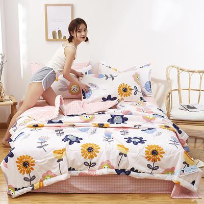 2021新款全棉12868印花夏被套件 110x150cm单夏被 极优家
