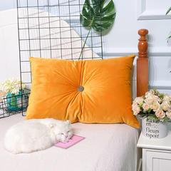 素色丽丝绒沙发靠垫 抱枕含芯可拆洗 可定做 45X45cm 单套子 暖黄色