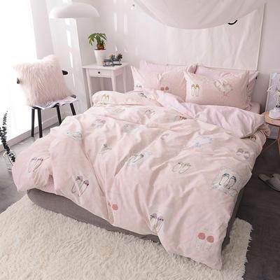 2018春夏新款13070全棉四件套 床单款1.2m床 花房姑娘