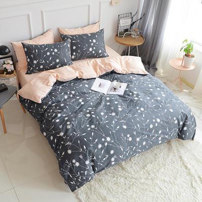 2018春夏新款13070全棉四件套 床单款1.2m床 花枝