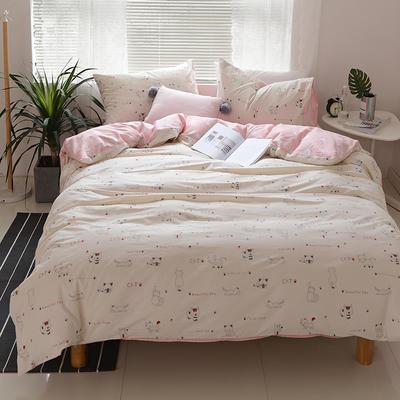 2018春夏新款13070全棉四件套 床单款1.2m床 小懒猫