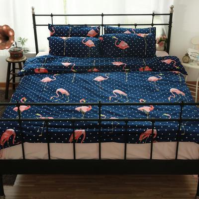 专版宝宝绒印花水晶绒套件 1.2m(4英尺)床 波点火烈鸟