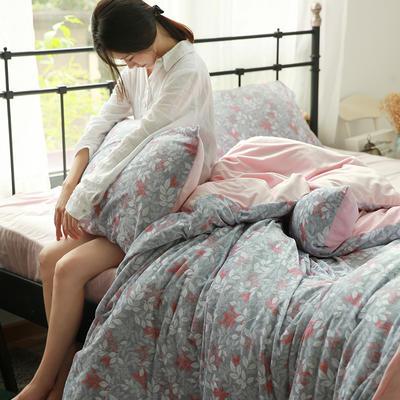 专版宝宝绒印花水晶绒套件 1.2m(4英尺)床 爱玲