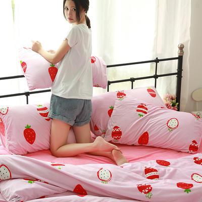 专版宝宝绒印花水晶绒套件 1.2m(4英尺)床 草莓姑娘