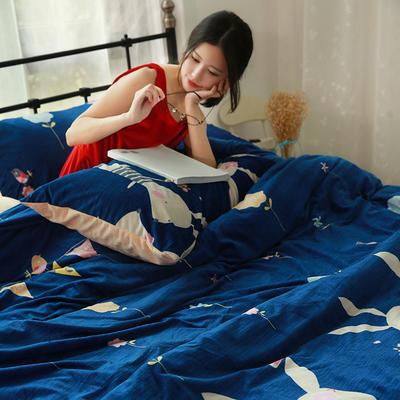 专版宝宝绒印花水晶绒套件 1.2m(4英尺)床 欢乐兔