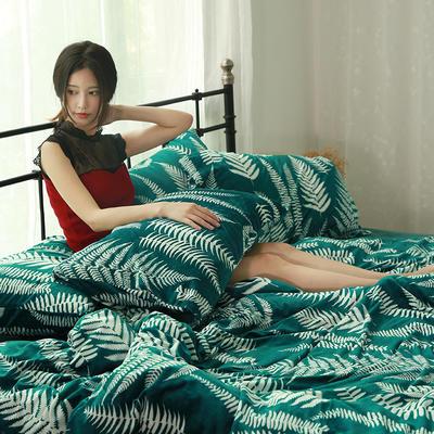 专版宝宝绒印花水晶绒套件 1.2m(4英尺)床 叶语