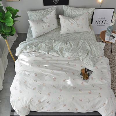2018春夏新款13372全棉四件套(2) 1.2m(4英尺)床 兔精灵