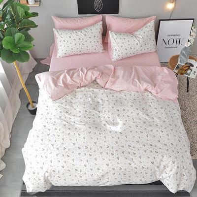 2018春夏新款13372全棉四件套 1.2m(4英尺)床 花开浪漫