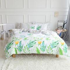 2018春夏新款13070全棉四件套 床单款1.2m床 热带雨林