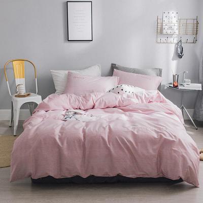 2018新款-创意生活四件套 1.2m(4英尺)床 粉色条纹