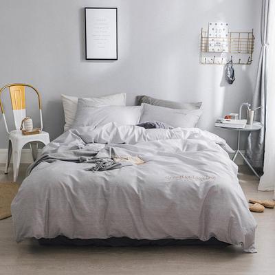 2018新款-创意生活四件套 1.2m(4英尺)床 灰白条纹