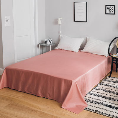 2019新款-全棉简约轻奢单品床单 180*230cm 胭脂红