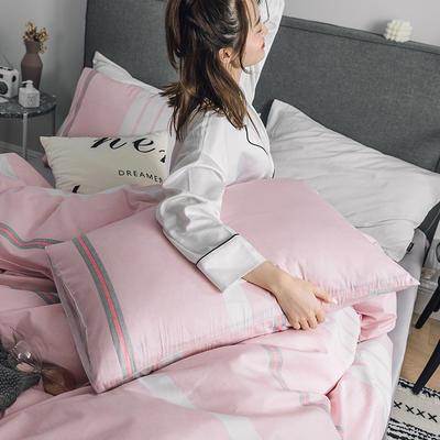 2019新款-全棉简约轻奢单品枕套 48cmX74cm/一对 米兰春天