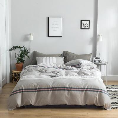 2019新款-全棉简约轻奢系列四件套 床单款1.2m(4英尺)床 丹丹