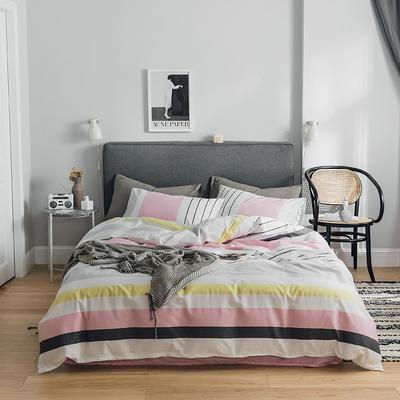 2019新款-全棉简约轻奢系列四件套 床单款1.2m(4英尺)床 格蕾丝