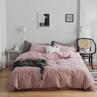 2019新款-全棉简约轻奢系列四件套 床单款1.2m(4英尺)床 亲密爱人