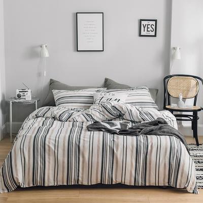 2019新款-全棉简约轻奢系列四件套 床单款1.2m(4英尺)床 时光