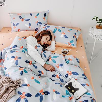 2019新款-倾城系列四件套 三件套1.2m(4英尺)床 枇杷