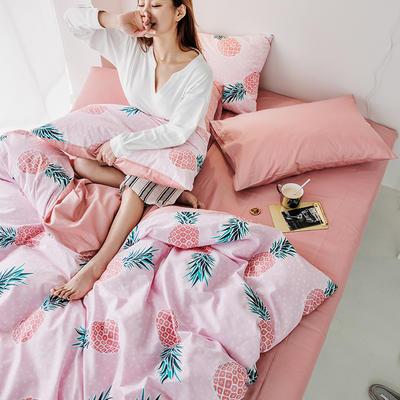 2019新款-倾城系列四件套 三件套1.2m(4英尺)床 时尚菠萝