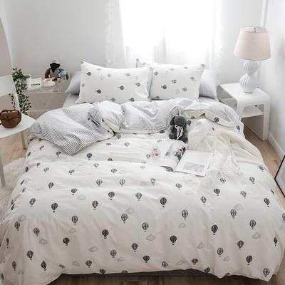 2019新款-全棉童话四件套 三件套1.2m(4英尺)床 小气球