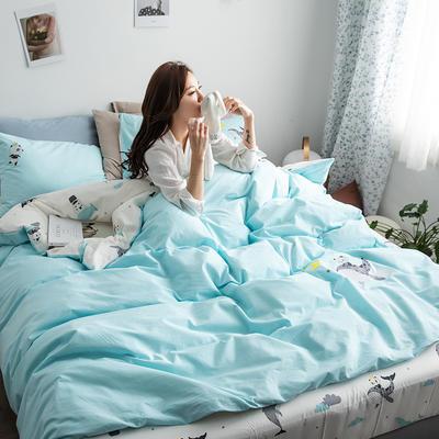 2019新款-功能型色织水洗棉四件套 三件套1.2m(4英尺)床 功夫熊猫