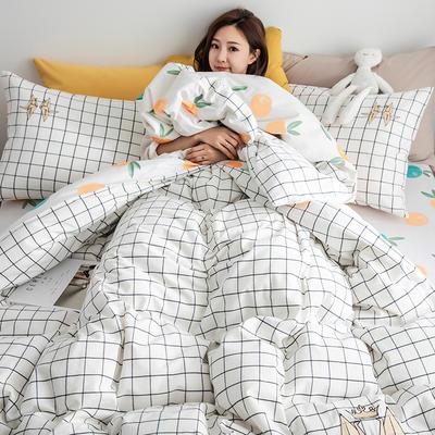 2019新款-功能型色织水洗棉四件套 三件套1.2m(4英尺)床 千纸鹤