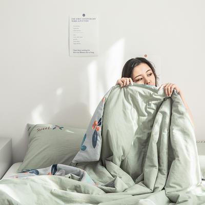 2019新款-色织水洗棉工艺款夏被 150x200cm 1.天生一对