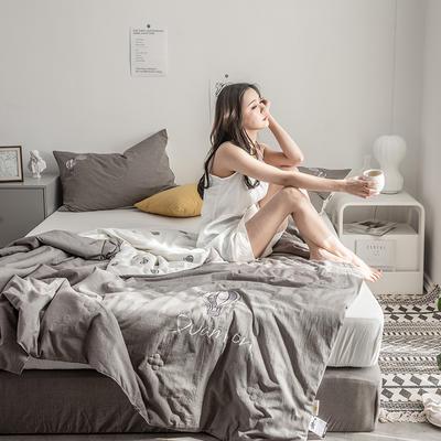 2019新款-色织水洗棉工艺款夏被 150x200cm 2.相思