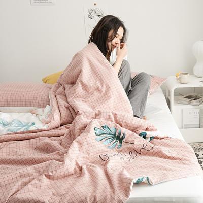 2019新款-色织水洗棉工艺款夏被 150x200cm 4.半夏时光