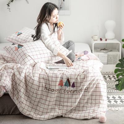 2019新款-色织水洗棉工艺款夏被 150x200cm 6.彩色森林