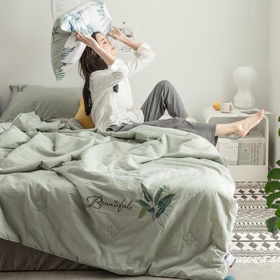 2019新款-色织水洗棉工艺款夏被 200X230cm 曼谷