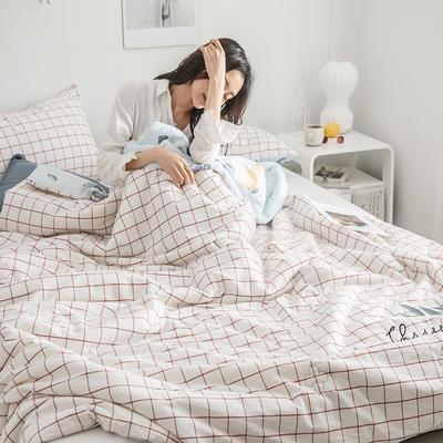 2019新款-色织水洗棉工艺款夏被 150x200cm 小苹果