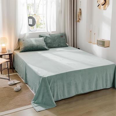 2019新款-魔法绒单品床单 180cmx230cm 灰绿