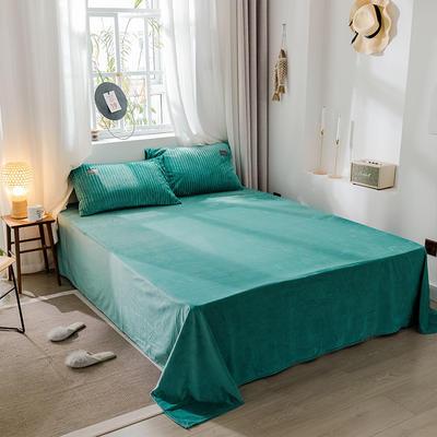 2019新款-魔法绒单品床单 180cmx230cm 蓝绿
