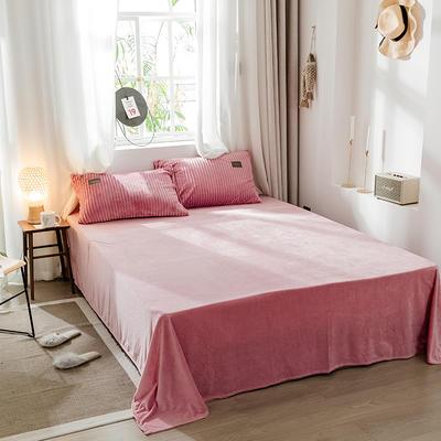 2019新款-魔法绒单品床单 180cmx230cm 胭脂红