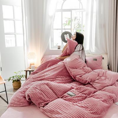 2019新款-魔法绒单品床笠 150cmx200cm 胭脂红