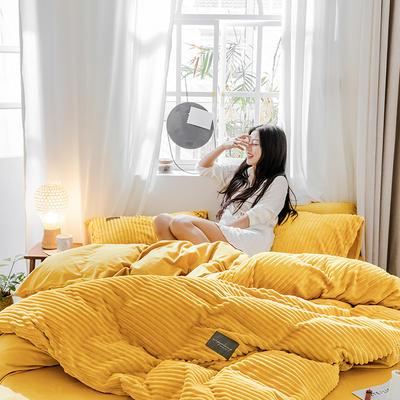 2019新款 -魔法绒四件套 床单款1.5m(5英尺)床 佛系黄