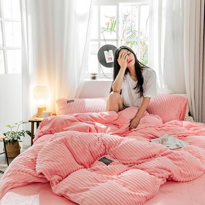2019新款 -魔法绒四件套 床单款1.5m(5英尺)床 公主粉-1