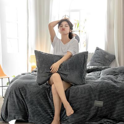 2019新款 -魔法绒四件套 床单款1.5m(5英尺)床 深灰