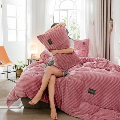 2019新款 -魔法绒四件套 床单款1.5m(5英尺)床 胭脂红