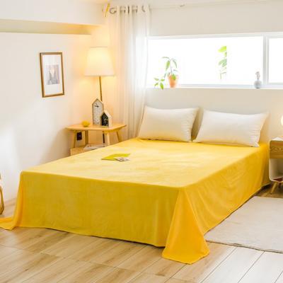 2019新款-水晶绒单品床单 180cmx230cm 柠檬黄