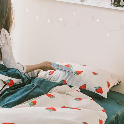 2019新款-治愈系秋冬棉绒单品床单 180cmx230cm 草莓派对