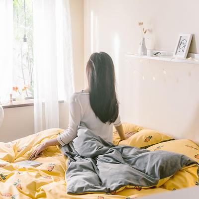2019新款-治愈系秋冬棉绒四件套 床单款三件套1.2m(4英尺)床 胡萝卜