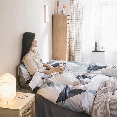 2019新款-治愈系秋冬棉绒四件套 床单款三件套1.2m(4英尺)床 加州